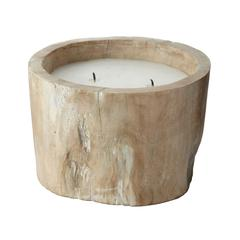 White Pepper Log Candle - Small