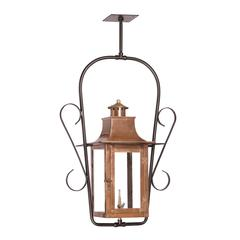 Maryville Outdoor Gas Ceiling Lantern In Aged Copper