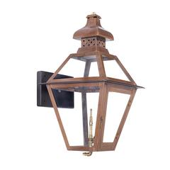 Bayou Outdoor Gas Wall Lantern Aged Copper