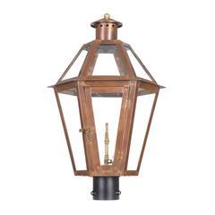 ELK lighting Grande Isle Outdoor Gas Post Lantern In Aged Copper
