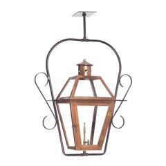 ELK lighting Grande Isle Outdoor Gas Ceiling Lantern In Aged Copper