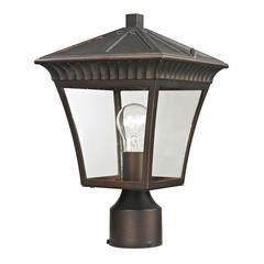 Cornerstone Ridgewood Post Lantern In Hazelnut Bronze