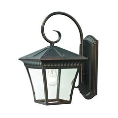 Ridgewood 1 Light Exterior Coach Lantern In Hazelnut Bronze