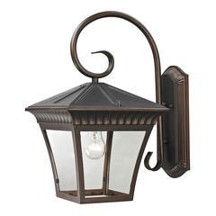 Ridgewood 1 Light Exterior Coach Lantern In Hazelnut Bronze