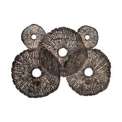 Coral Discs Fire Screen