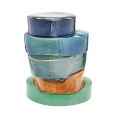 Lazy Susan Stacked Ovals Side Table In Multi Ombre