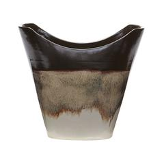 Reaction Vase In Cascade Mocha- Large