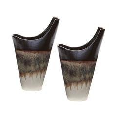 Small Reaction Vases In Cascade Mocha - Set of 2