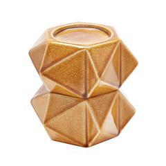 Lazy Susan Large Ceramic Star Candle Holders - Honey. Set Of 2
