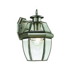 Cornerstone Ashford 1 Light Exterior Coach Lantern In Antique Nickel