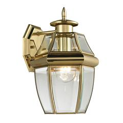 Ashford 1 Light Exterior Coach Lantern In Antique Brass