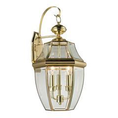 Ashford 3 Light Exterior Coach Lantern In Antique Brass