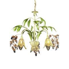 ELK lighting Huarco 3 Light Chandelier In Seashell And Green