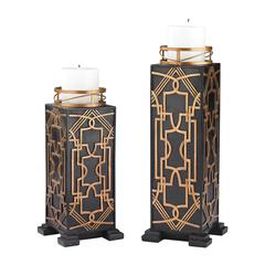 Sterling Set of 2 Gatsby Candleholders