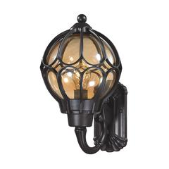 Madagascar 1 Light Outdoor Sconce In Matte Black