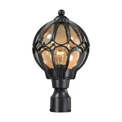 ELK lighting Madagascar 1 Light Outdoor Post Lantern In Hazelnut Bronze