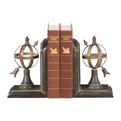 Pair Arrow And Sphere Bookends