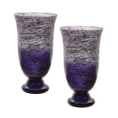Plum Ombre Flared Vase - Set of 2