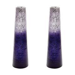 Ombre Snorkel Vases In Plum - Set of 2