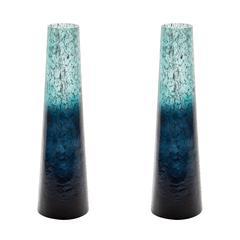 Lazy Susan Emerald Ombre Snorkel Vase