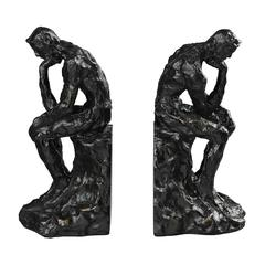 Sterling Thinking Man Book Ends