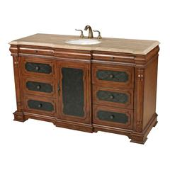Sterling Ormonde Walnut Tone Single Vanity Unit