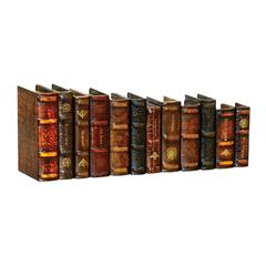 Set of 12 Leatherbound Books