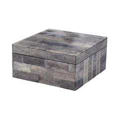 Gray And White Bone Boxes - Lg