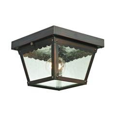 Springfield 2 Light Outdoor Flushmount In Hazelnut Bronze