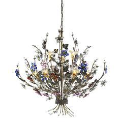 ELK lighting Brillare 9 Light Chandelier With Multicolor Crystal Florets