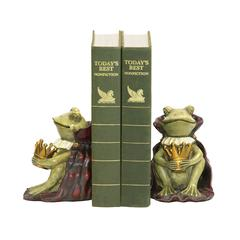Pair Frog Prince Bookends