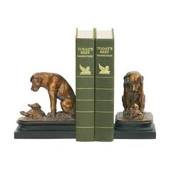 Pair Turtle And Labrador Retriever Bookends