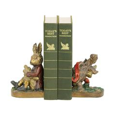 Pair Of Tortoise And Hare Bookends