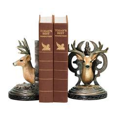 Pair Deer Head Bookends