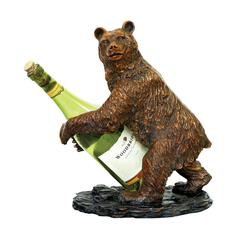 Sterling Bear Wine Holder