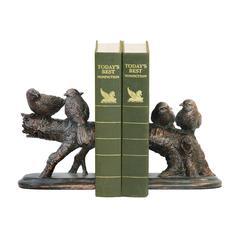 Sterling Pair of Continuing Branch Bookends