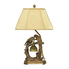Twin Parrots Table Lamp in Atlanta Bronze