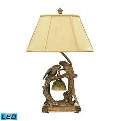 "Dimond 25"" Twin Parrots LED Table Lamp in Atlanta Bronze"