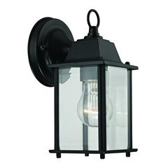 Cornerstone 1 Light Outdoor Wall Sconce In Matte Black
