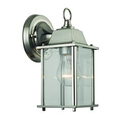 Cornerstone 1 Light Outdoor Wall Sconce In Brushed Nickel