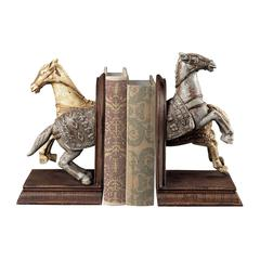 Sterling Knights Horse Bookends