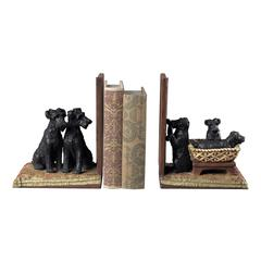Puppies In A Basket Bookends