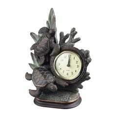 Sterling Swimming Turtle Clock