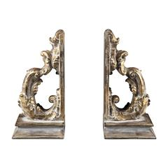 Sterling Florentine Scroll Bookends