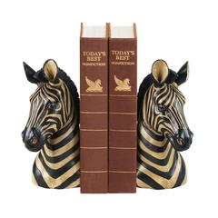 Sterling Pair Of Zebra Bookends