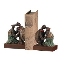 Kissing Turtle Bookends