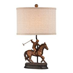 Sterling Polo Player Accent Lamp