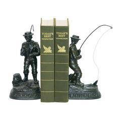 Sterling Pair Fish On Line Bookend