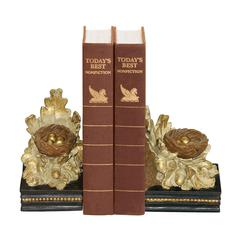 Sterling Pair Oak And Acorn Bookends