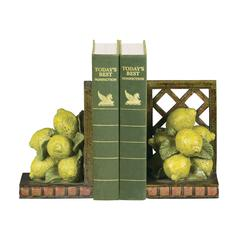 Sterling Pair of Lemon Orchard Bookends
